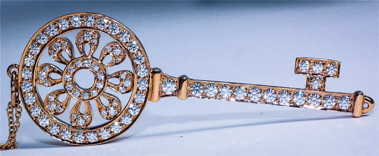 Tiffany Diamond Key Pendant
