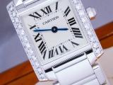 Vintage Cartier Tank Diamond Watch